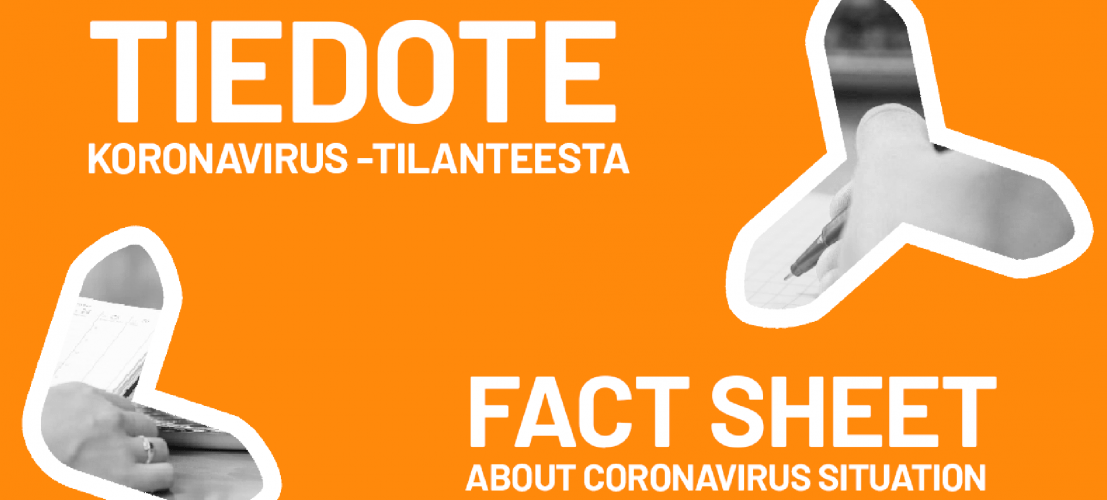 LYY tiedottaa: Koronavirus // Annnouncement: Coronavirus