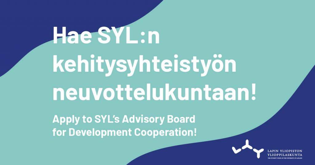 Hae SYL:n kehitysyhteistyön neuvottelukuntaan!