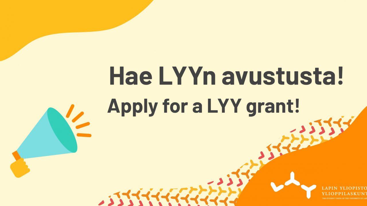 Hae LYYn avustusta!