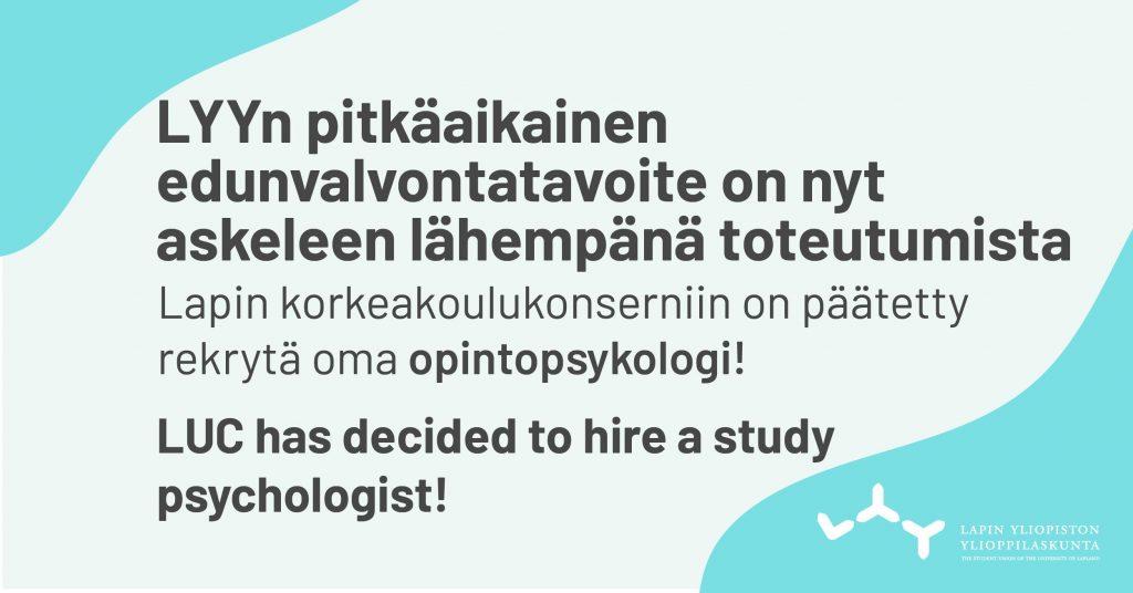 Opintopsykologi Lapin yliopistoon